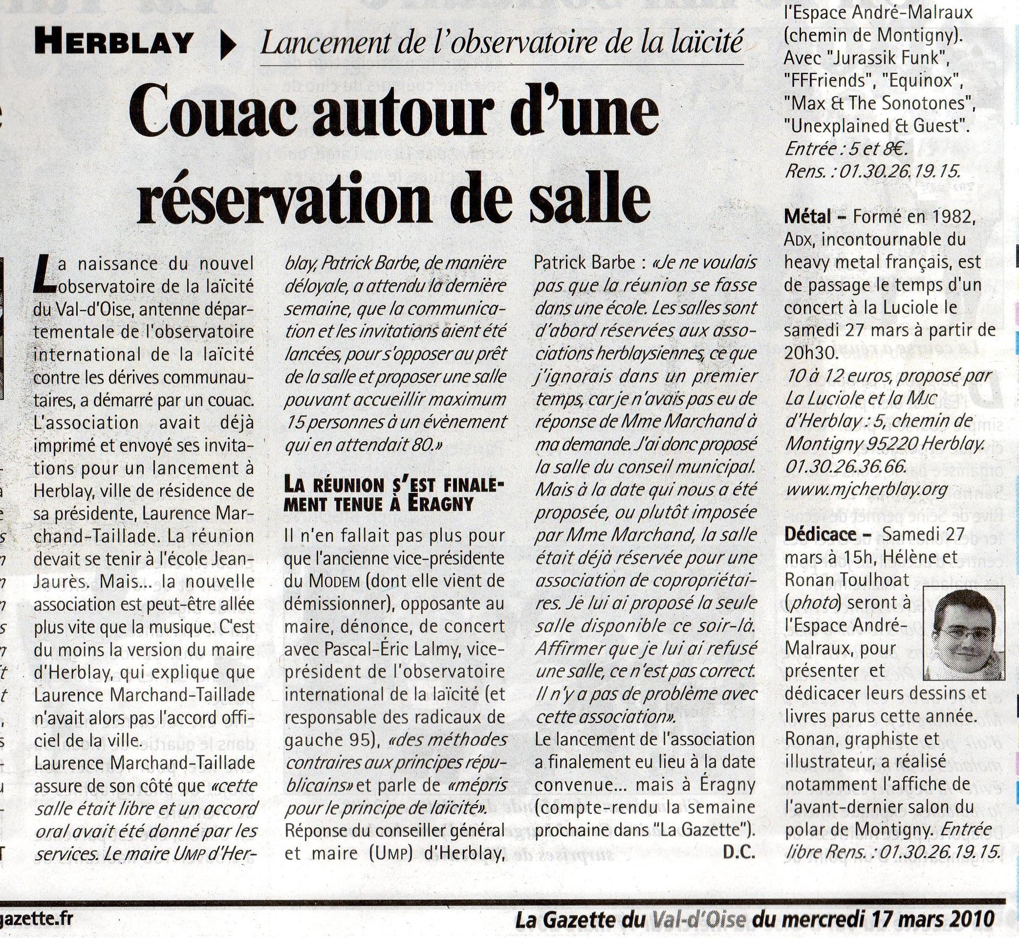 La Gazette 17/03
