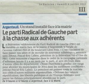 Pas de vacances pour les Radicaux de gauche dans Actualité argenteuil-leparisien-06072013-300x283