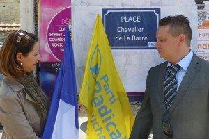 Inauguration d'une place chevalier de La Barre à Méry-sur-Oise